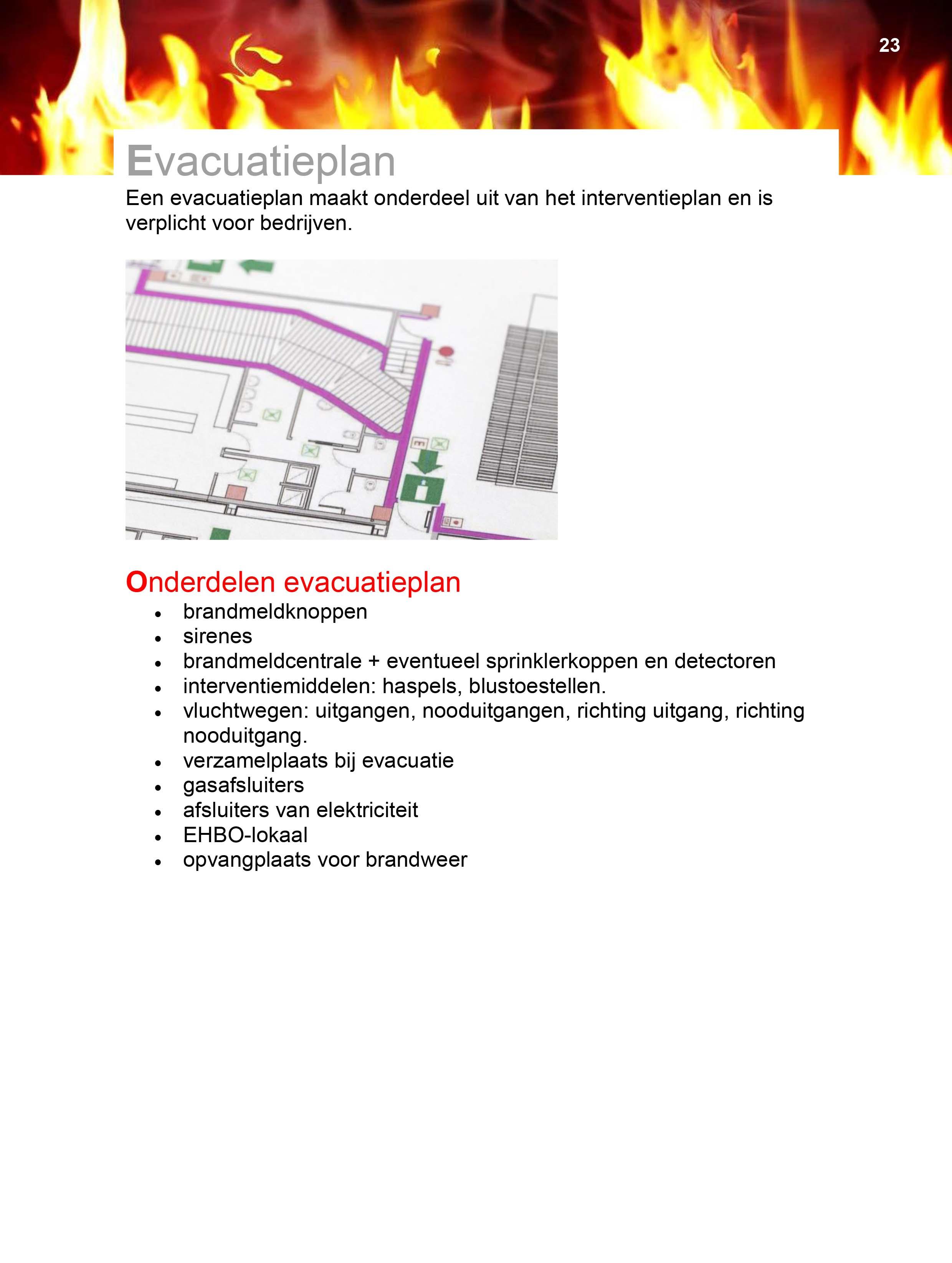19 Evacuatieplan